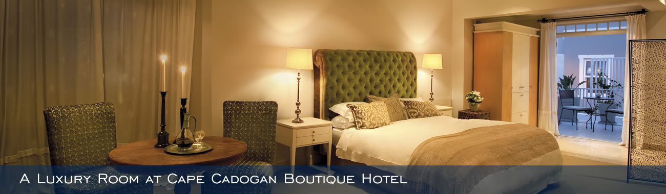 A Luxury Room at Cape Cadogan Boutique Hotel