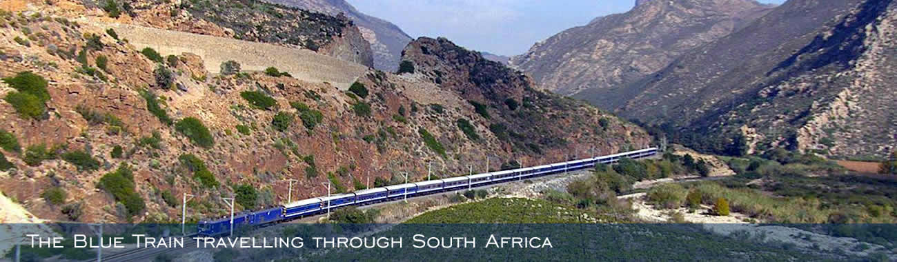 The Blue Train travelling through South Africa