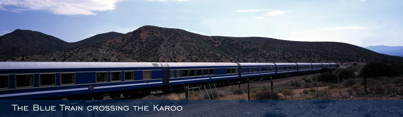The Blue Train crossing the Karoo