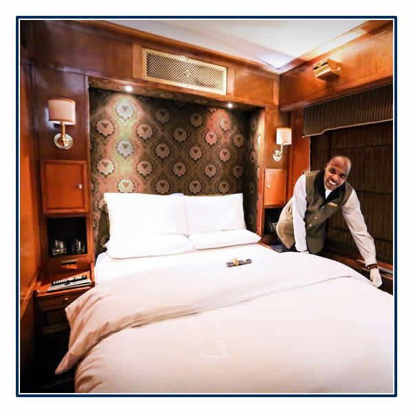 Your Blue Train Luxury Suite at night