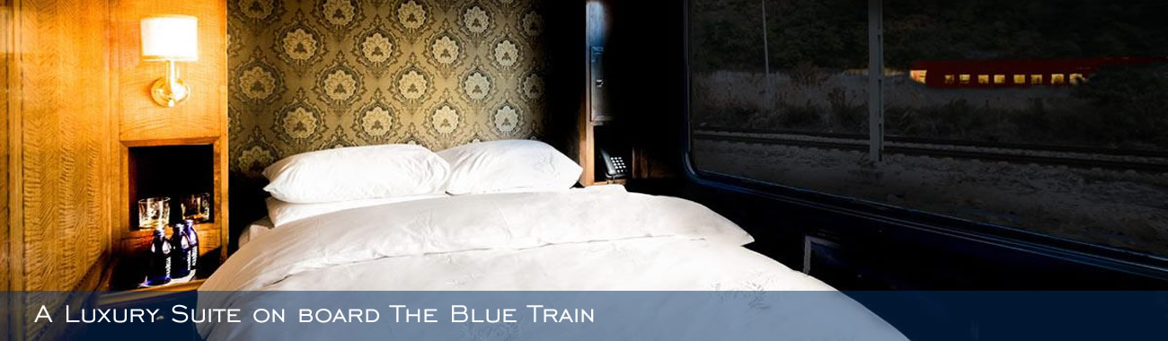 A Luxury Suite on board The Blue Train