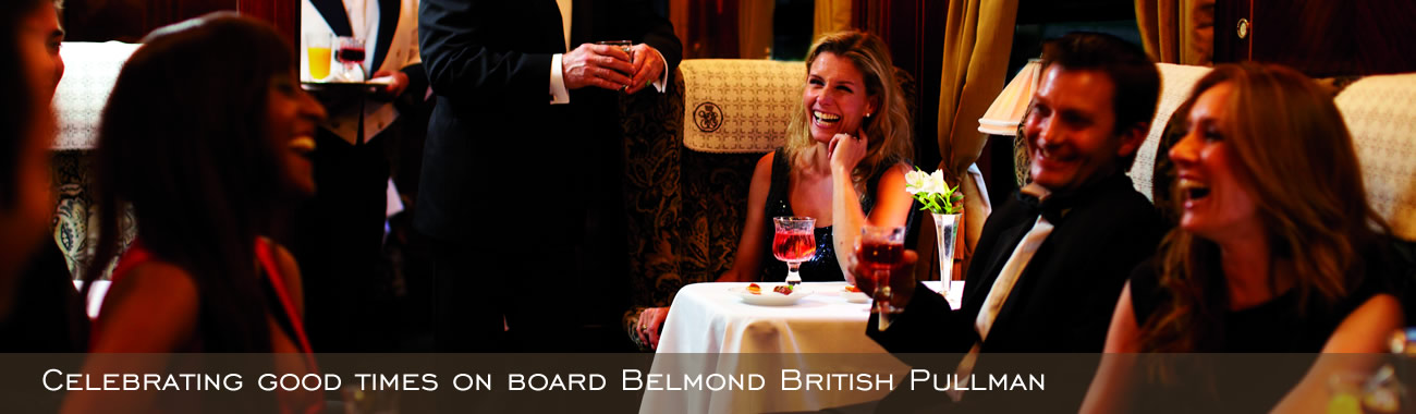 Celebrating good times on Belmond British Pullman