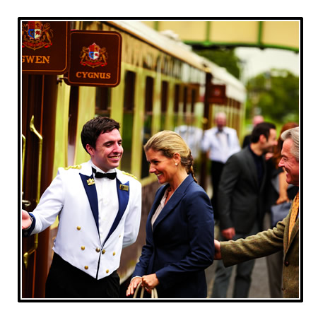 Welcome an board Belmond British Pullman