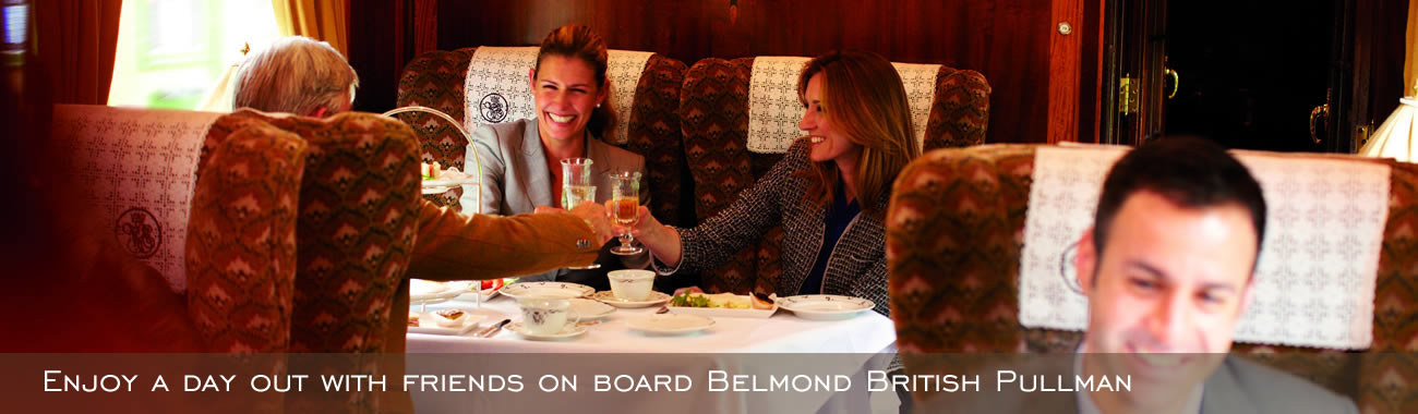 Enjoy superb cuisine served on Belmond British Pullman dining excursions