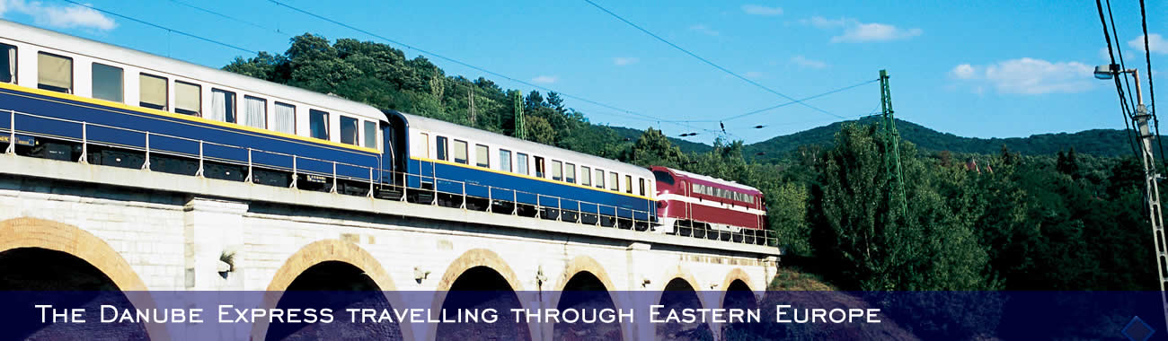 The Danube Express travelling through Eastern Europe