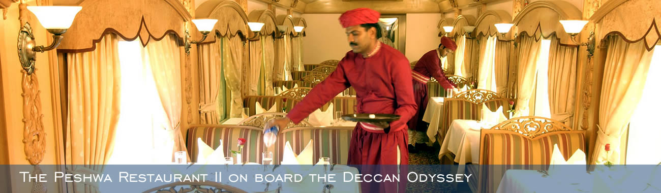 The Peshwa Restaurant II on board the Deccan Odyssey