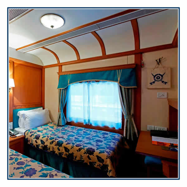A Deluxe Twin Cabin on the Deccan Odyssey