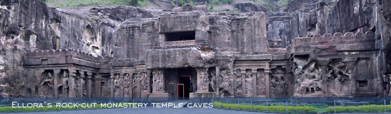 The magnificent Ellora Caves at Aurangabad