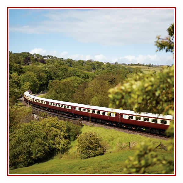 The` Northern Belle travels through Beautiful Countryside
