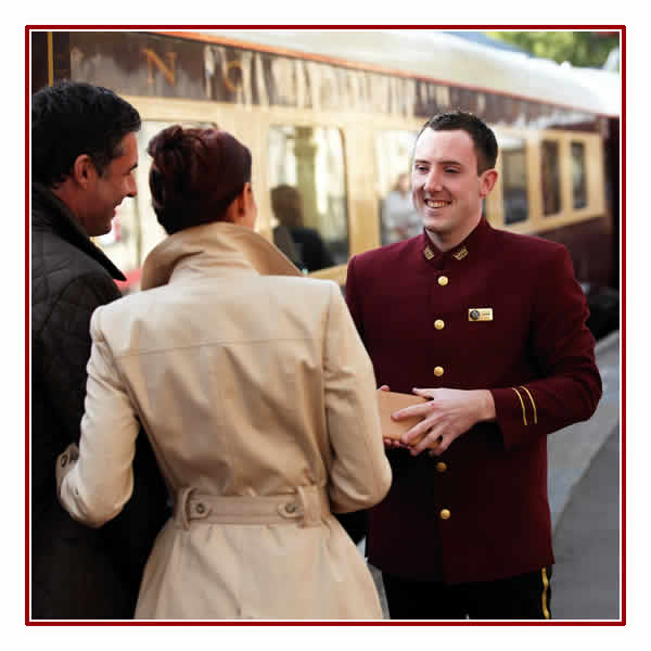 Greeted on Board by friendly Northern Belle staff