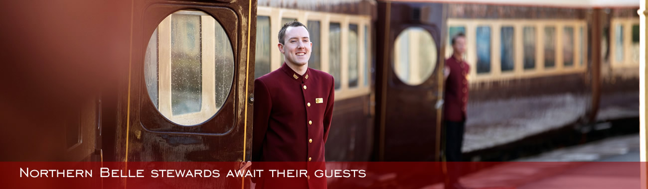 Belmond Northern Belle stewards await their guests