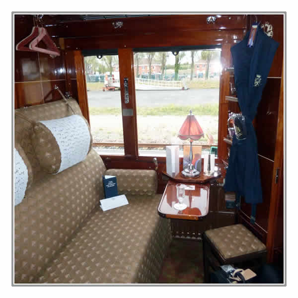 Your cabin on board the Venice Simplon-Orient-Express