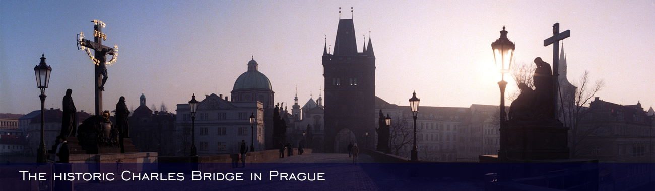 The historic Charles Bridge in Prague