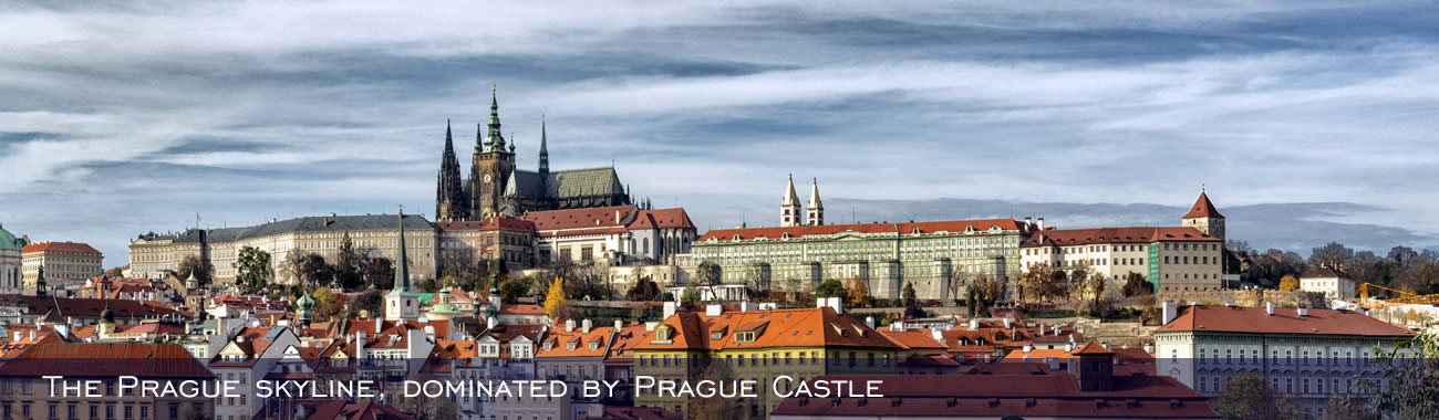 The Prague skyline, dominated by Prague Castle