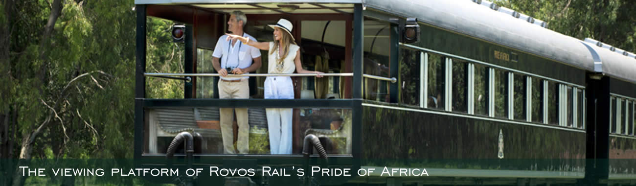The viewing platform of Rovos Rail's Pride of Africa