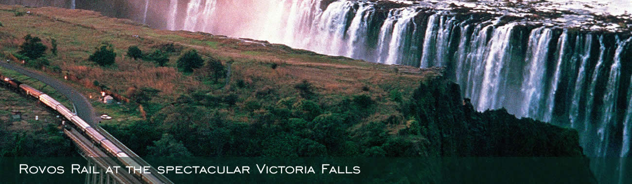 Rovos Rail at the spectacular Victoria Falls
