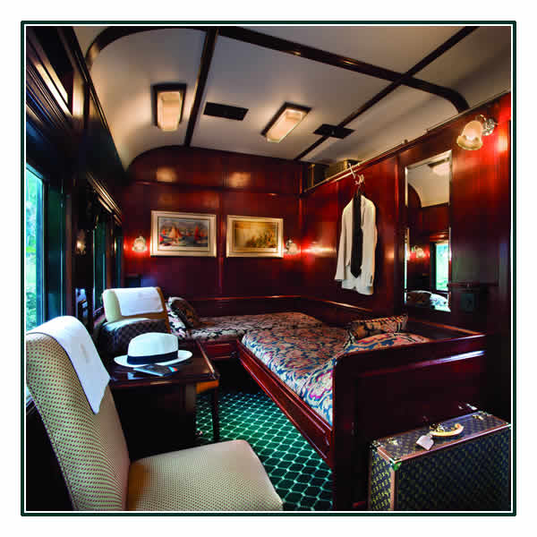 A Deluxe Twin Suite on board Rovos Rail