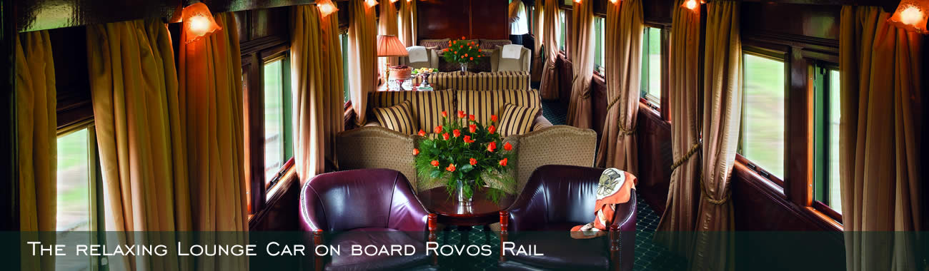 The relaxing Lounge Car on board Rovos Rail