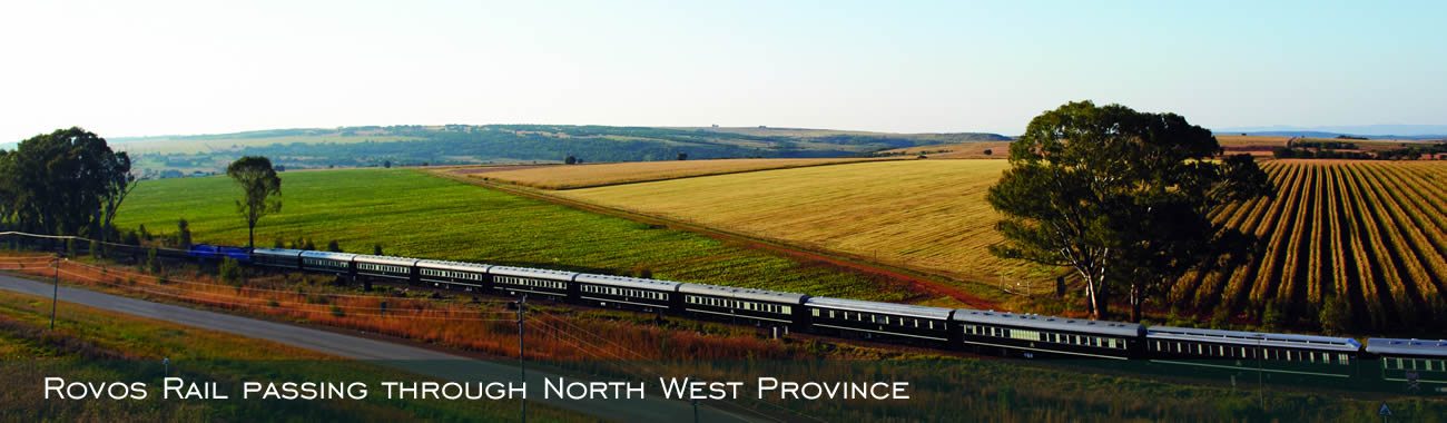 Rovos Rail passing through North West Province