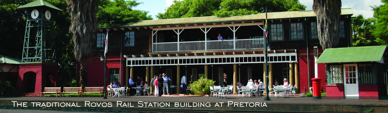 End your journey at the traditional Rovos Rail Station building at Pretoria