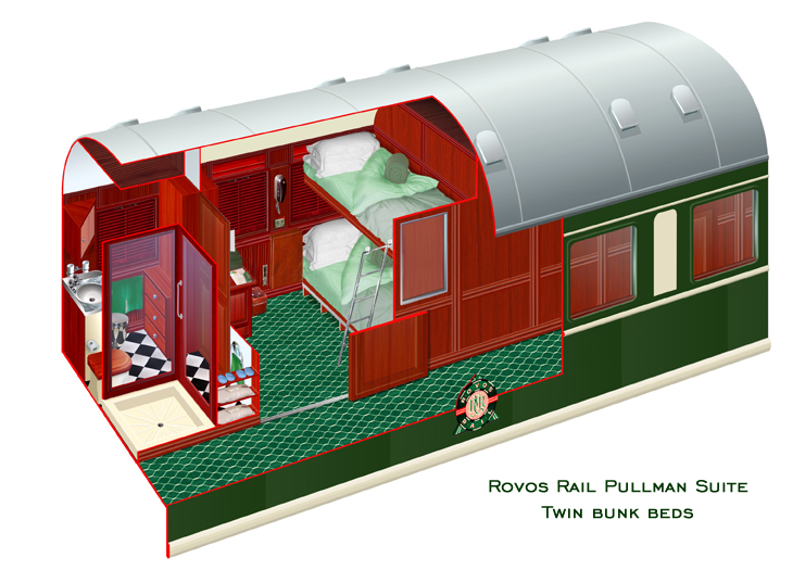 Rovos Rail Pullman Double Bunk Suite
