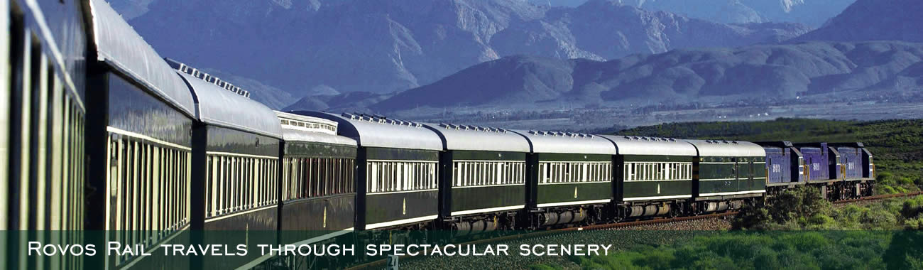 Rovos Rail travels through spectacular scenery