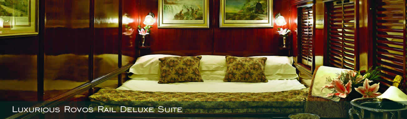 Luxurious Rovos Rail Deluxe Suite