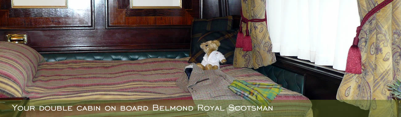 Your double cabin on board Belmond Royal Scotsman