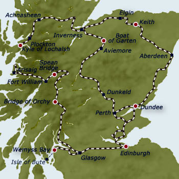 The Belmond Royal Scotsman Grand Western Scenic Wonders 7 - night Tour