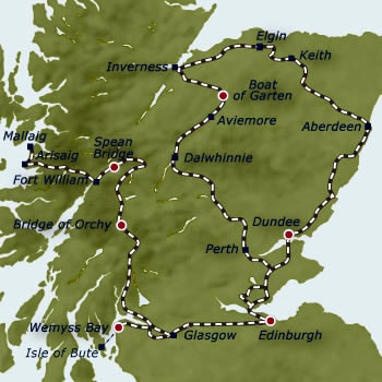 Belmond Royal Scotsman Grand Taste of the Highlands 5-night Tour