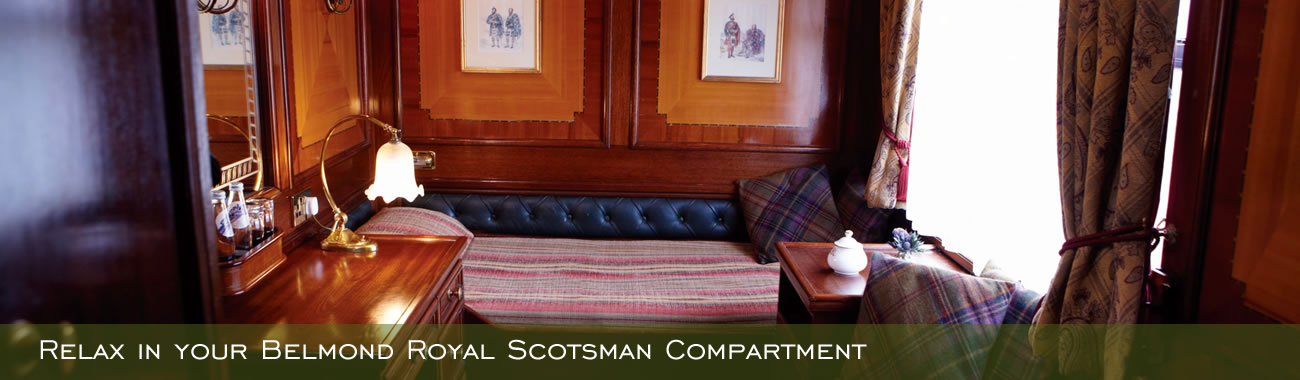 Relax in your Belmond Royal Scotsman Compartment