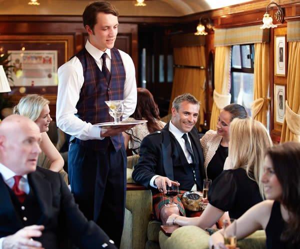 Superb bar service on board Belmond Royal Scotsman