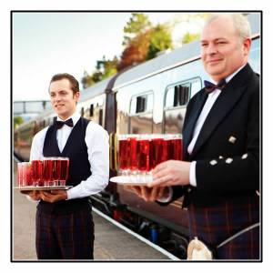 Drinks await as you re-board the Belmond Royal Scotsman