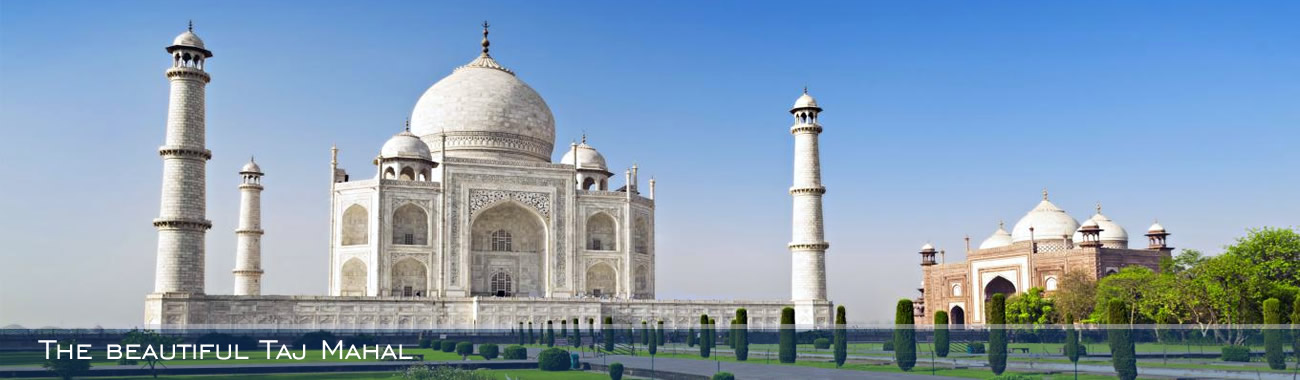 The incredible Taj Mahal at Agra