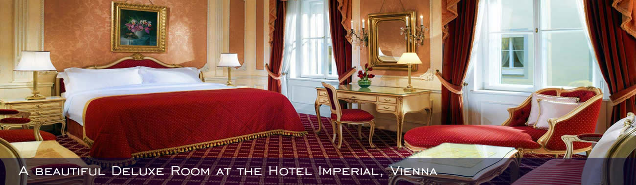 A beautiful Deluxe Room at the Hotel Imperial, Vienna