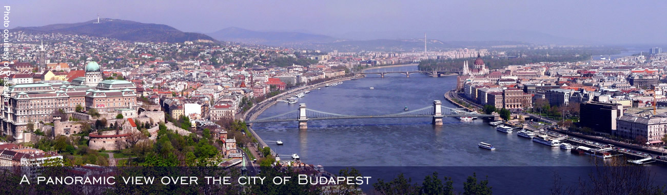 A panoramic view over the city of Budapest