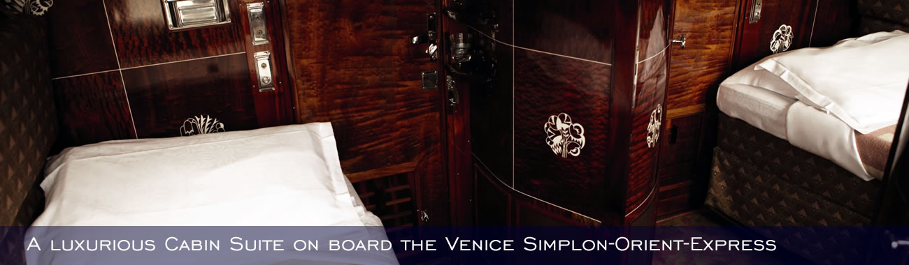 A luxurious Cabin Suite on board the Venice Simplon-Orient-Express