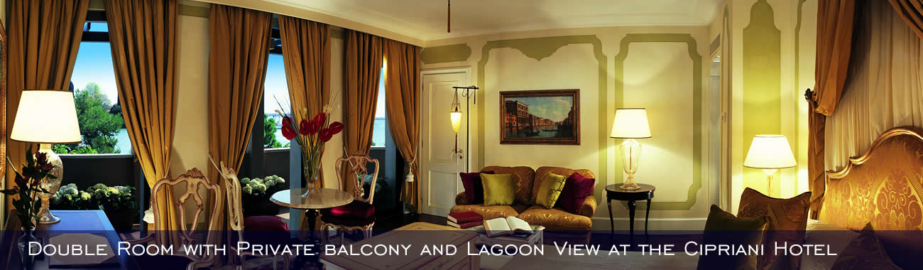 Double Room with Private balcony and Lagoon View at the Cipriani Hotel