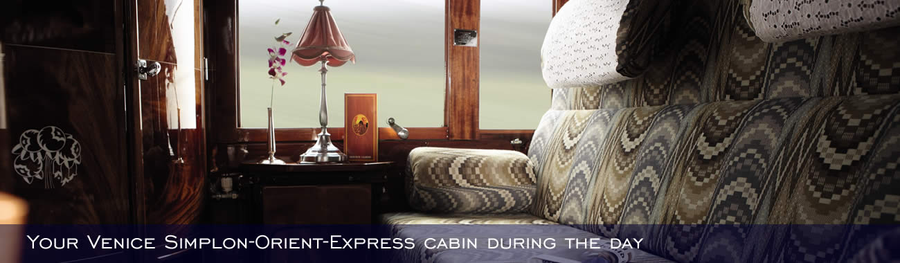 Your Venice Simplon-Orient-Express cabin during the day