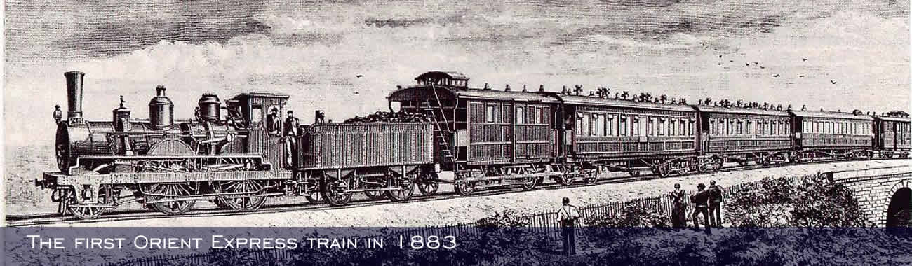 The first Orient Express train in 1883