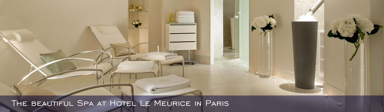 The beautiful Spa at Hotel Le Meurice in Paris