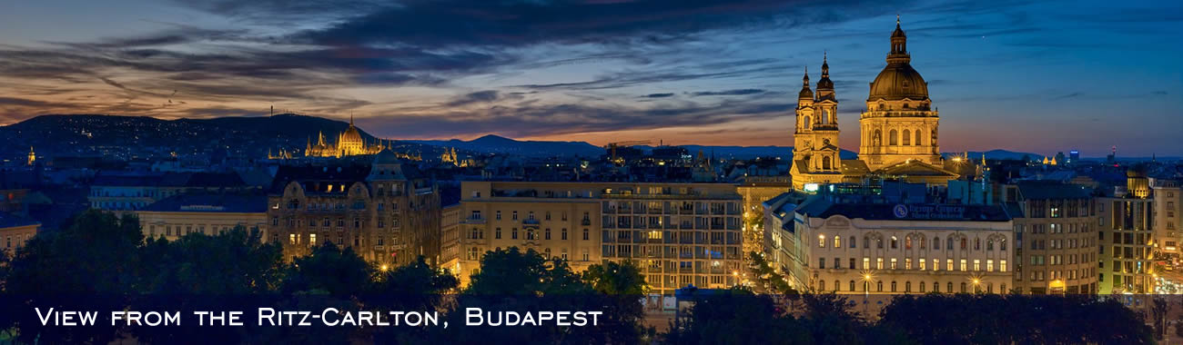 View of the city of Budapest from the Ritz-Carlton