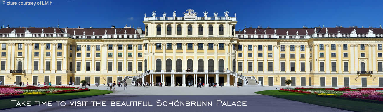 Take time to visit the beautiful Schönbrunn Palace