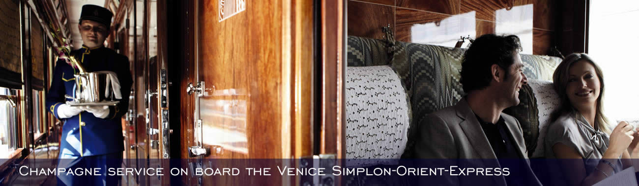 Champagne is served - on the Venice Simplon-Orient-Express